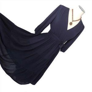 New BODEN Aurora Midi Wrap Dress Navy
